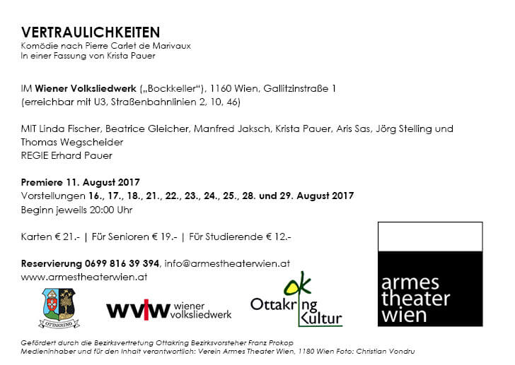 Flyer Armes Theater